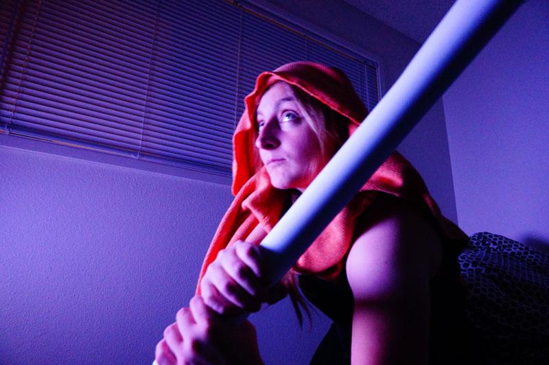 Cosplay of Mara Jade from Star Wars Legends
