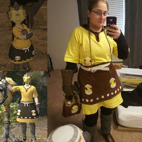 Cosplay of the Chocobo Keep from Final Fantasy XIV.