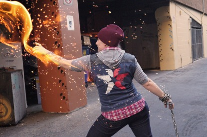 Cosplay of Delsin Rowe from inFAMOUS Second Son