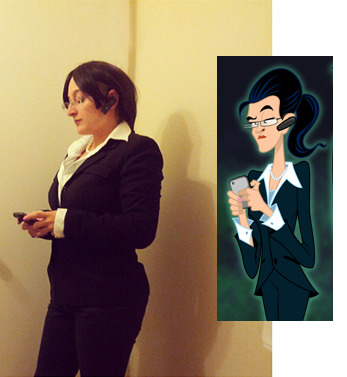 Cosplay of Ms Landers from Disney's Ghosts of Mistwood.