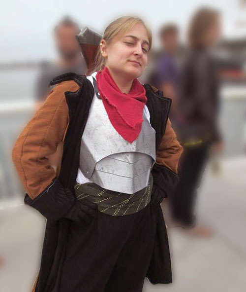Cosplay of Varric Tethras from Dragon Age: The Silent Grove.